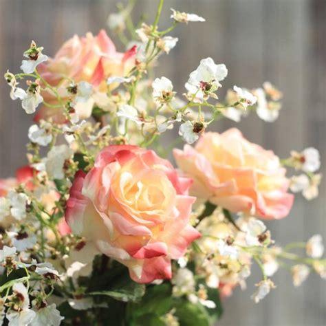 5pcs Fresh Pink Tea High Artificial Flower Home Luxury Artificial Pink Hybrid Tea Bouquet Amaranthine Blooms