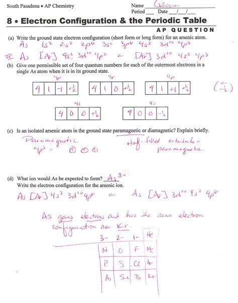 the gallery for gt periodic table puzzle worksheet answer key