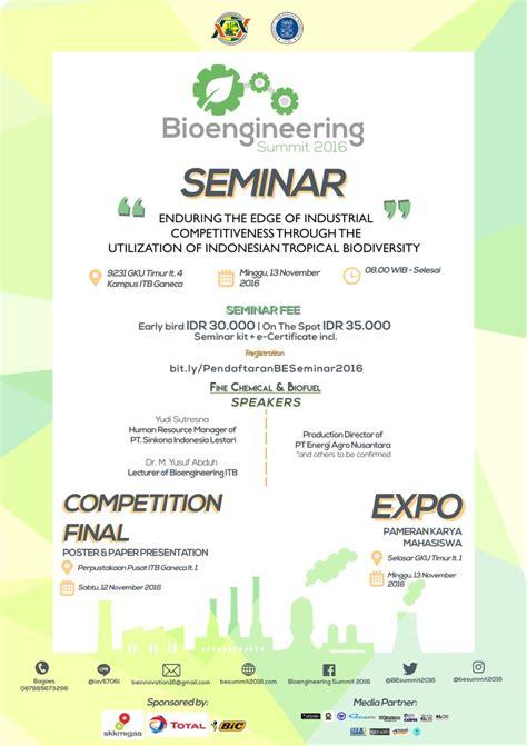 bioengineering adalah bioengineering summit 2016 seminar expo itb ganesha