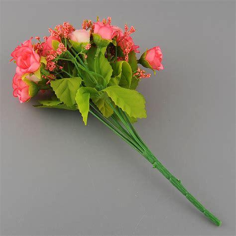 Artificial Flowers For Garden 21pcs Artificial Flower Silk Flower Arrangement Wedding Garden Decor