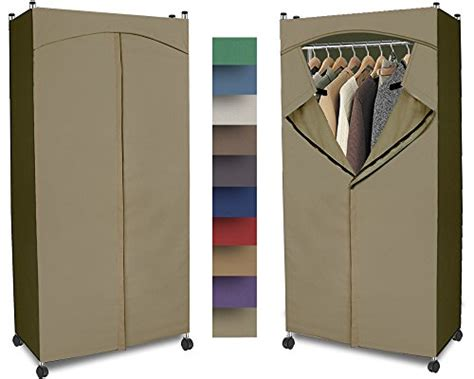 Portable Wardrobe Closet On Wheels - storage clothes closet on wheels