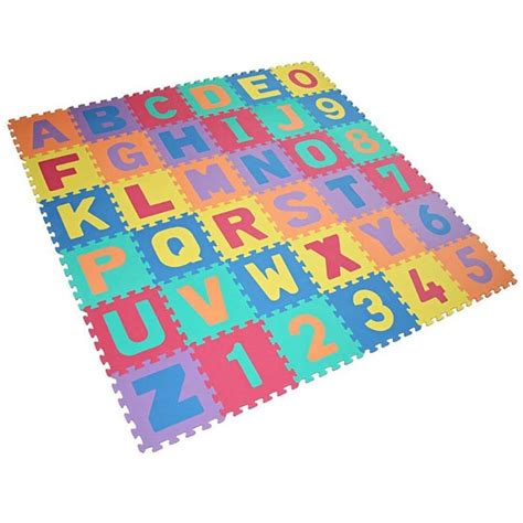 multi coloured play mats for with number letter