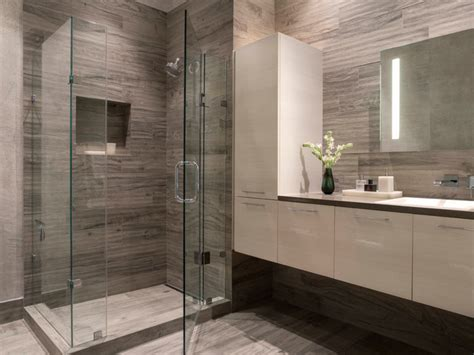 Contemporary Modern Bathroom Modern Gray White Bathroom Contemporary Bathroom