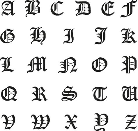 old english tattoo letters pin fonts free on