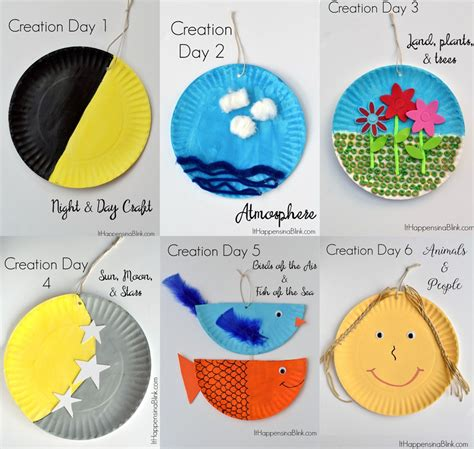 themes in the creation story teaching the 7 days of creation sunday school crafts