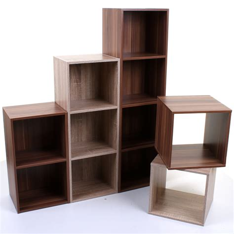 Cube Shelf by 2 3 4 Tier Wooden Bookcase Shelving Display Storage Unit
