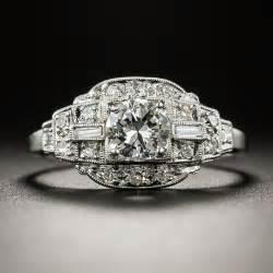 deco 41 carat platinum engagement ring