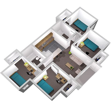 Southern Living Floor Plans Privateer Place Apartments Uno Housing University Of