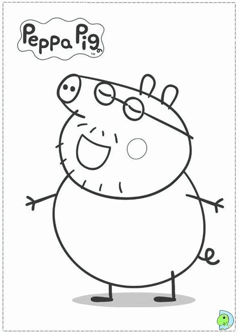 daddy pig coloring page peppa pig daddy pig coloring pages coloring home