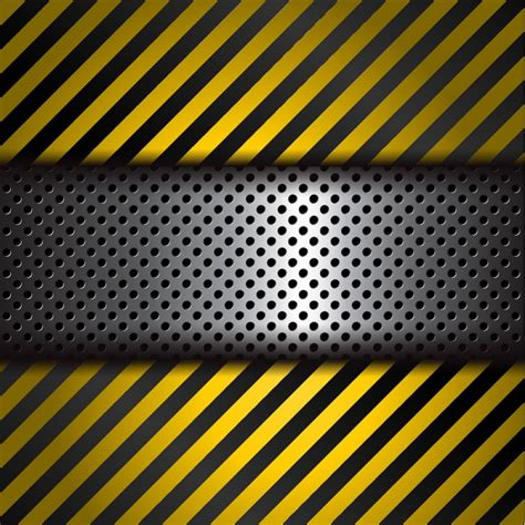 black yellow wallpaper vector perforated metal background with yellow and black stripes