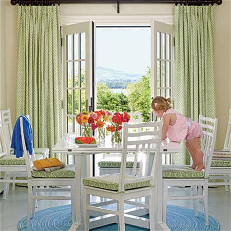 Coastal Dining Room Curtains Nets Happy Place Coastal Living Window Treatments