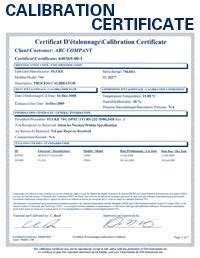 Pressure Gauge Calibration Certificate Template Qualified Calibrations Nist Certification And Repairs