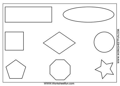 2d printable coloured shapes free printable math worksheets use as an oral direction
