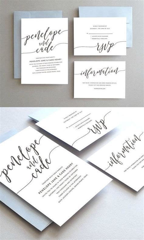 Simple Wedding Stationery by Unique Wedding Invitation Printable Wedding Invitation