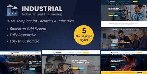 themeforest industrial theme industrial industrial and engineering html template by