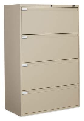 Global 4 Drawer Lateral File Cabinet Global 4 Drawer Commercial Grade Steel Lateral Filing Cabinet 9336p4f1h