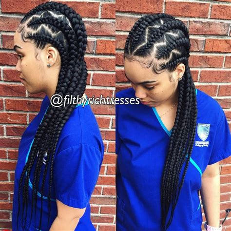 cornrow hairstyles for black women with part in the middle see this instagram photo by filthyrichtresses 574 likes