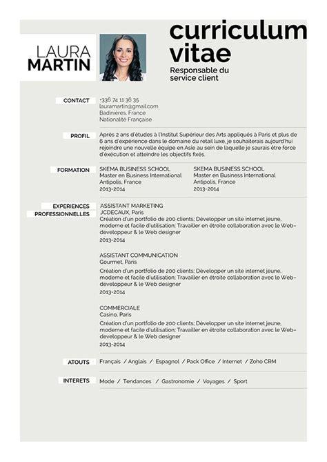 Forme De Cv En Francais by Comment Faire Un Curriculum Vitae Cv Cr 233 Atif 183 Mycvfactory