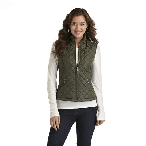 Quilted Vest Womens by Louise S Quilted Vest Shop Your Way