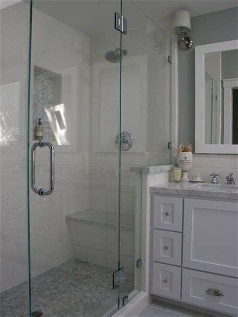 white tiled bathroom ideas bathroom white subway tile with marble shower design
