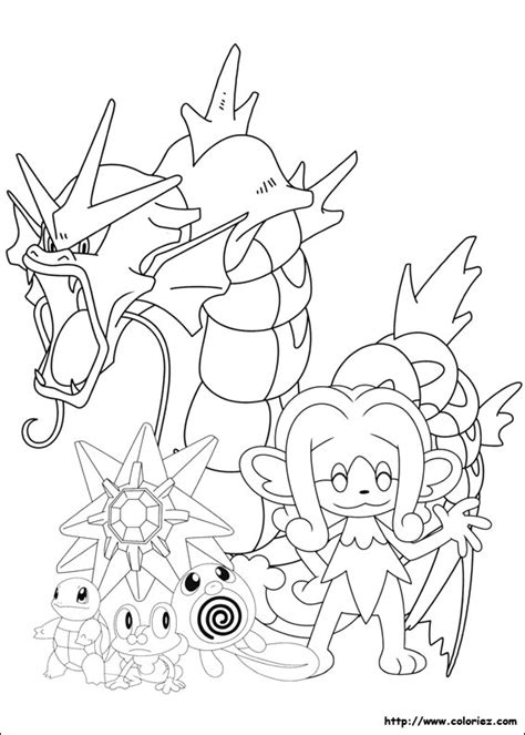 Coloriage Pokemon De Type Eau