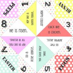 easter cootie catcher free printable the creative
