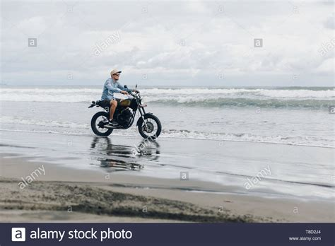 motorcycle  beach stock  motorcycle  beach