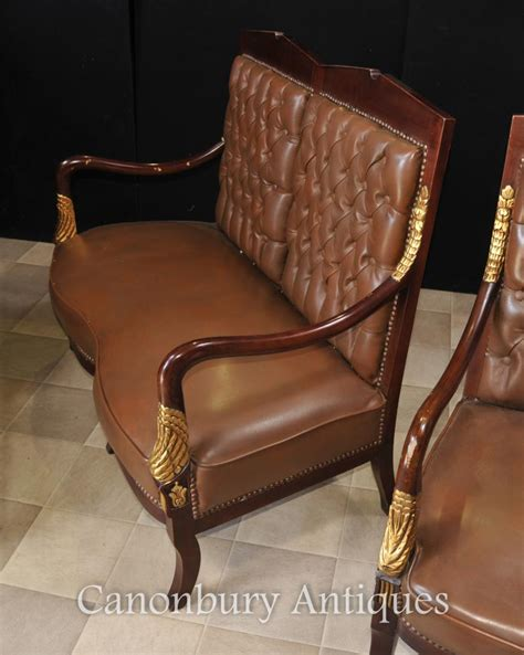 empire sofa arm chair suite leather chairs ebay