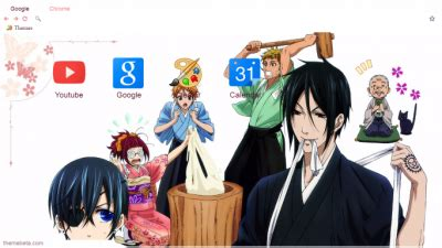 google theme kuroshitsuji sebastian michaelis chrome themes themebeta