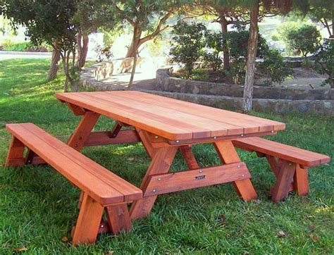 Wood picnic table kits built to last decades forever redwood