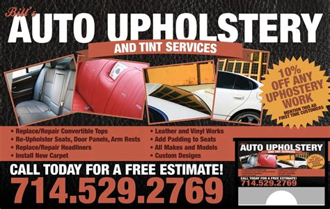 Bills Upholstery by Bill S Auto Upholstery Car Wash Ads
