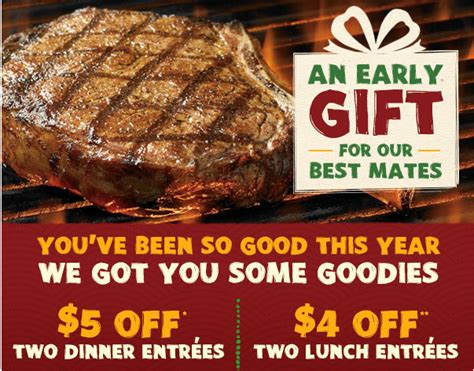 outback steakhouse save 5 on 2 dinner entrees outback steakhouse coupon 5 plus free bloomin
