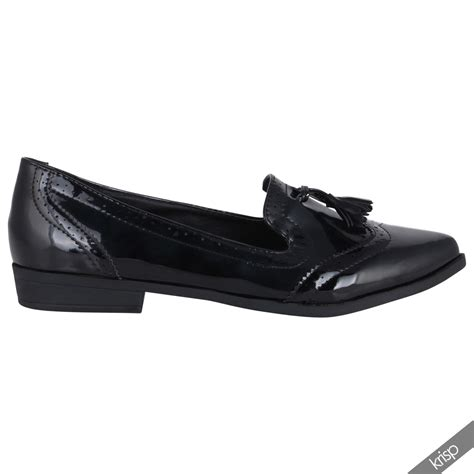 school loafers womens croc snake patent fringe loafers flats pumps