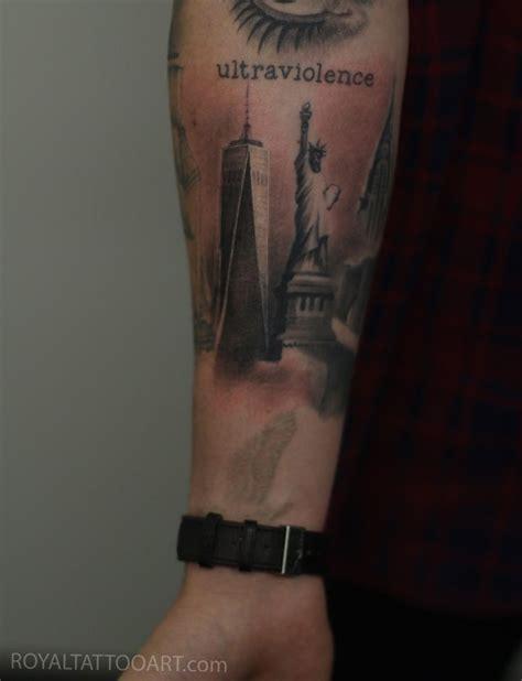 tower tattoo nyc freedom tower on arm memorial 911 royal jafarov