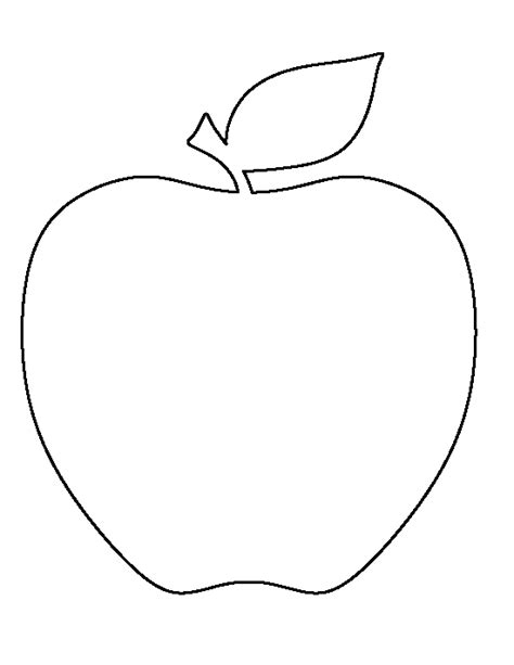 free printable apple template pin by muse printables on printable patterns at