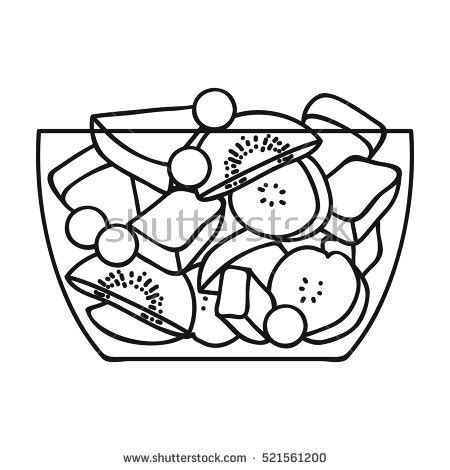 salad clipart outline pencil and in color salad clipart