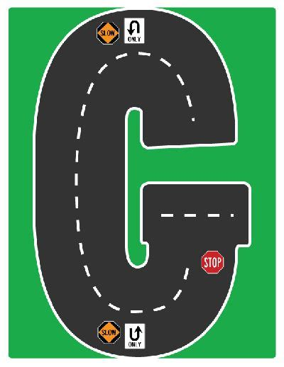 highway letters free printable 27 best images about drive the alphabet highway road