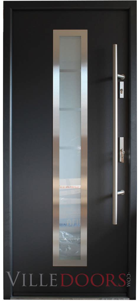 exterior steel doors with glass quot madrid quot stainless steel entry door with glass