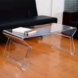 modern clear acrylic end coffee table lucite carrying tray