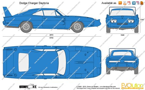 How to draw dodge daytona
