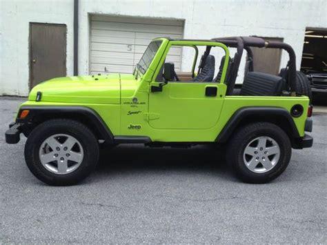 cars like the jeep wrangler find used 2012 jeep wrangler gecko green look a like 1999