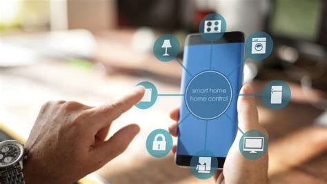 smart home using smart home app on a smart phone