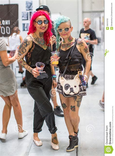 tattoo expo krakow participants at 10 th international tattoo convention in