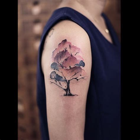shoulder tree tattoo designs 19 watercolor tree tattoos