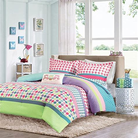 purple wall with striped pillow kids contemporary and girls teen kids modern comforter bedding set pink purple