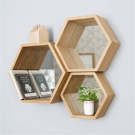 Modern 70 S Home Design by Hexagon Mirror Shelves By James Design