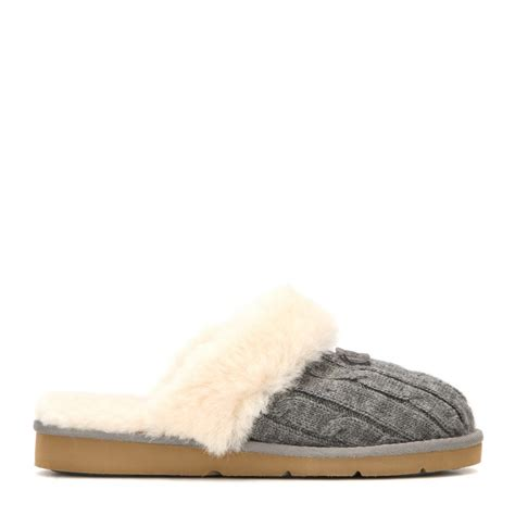 Ugg Cozy Knit Slippers In Gray Lyst