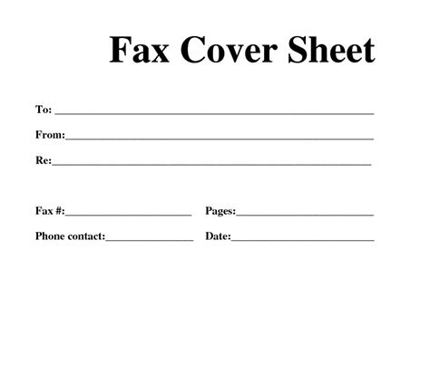 cover page letter printable fax cover sheet letter page template pdf
