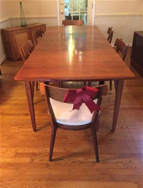 mid century modern dining table and chairs mid century modern drexel declaration dining table and six