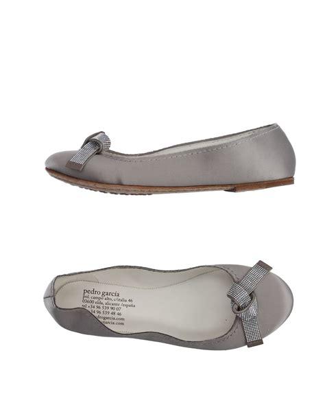 gray ballet flats womens shoes pedro garcia ballet flats in gray light grey lyst